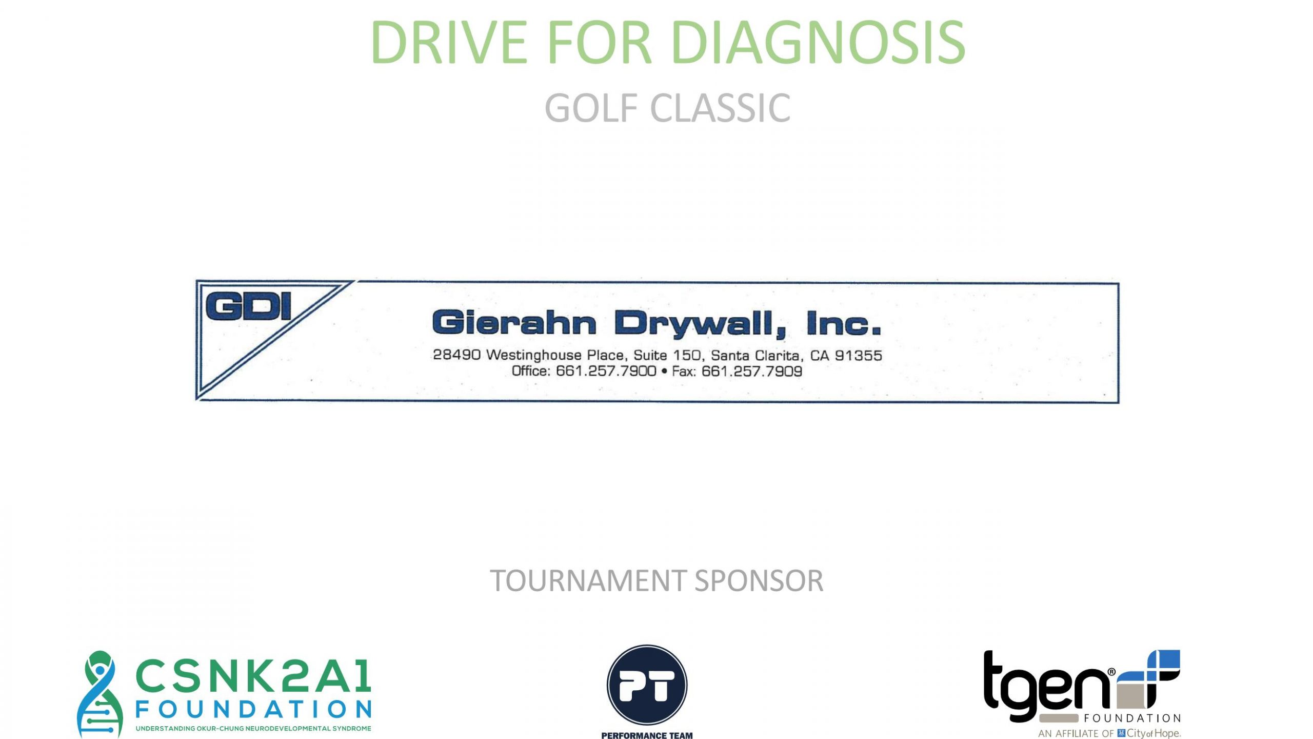 Tournament Sponsor - Gierahn Drywall, Inc.