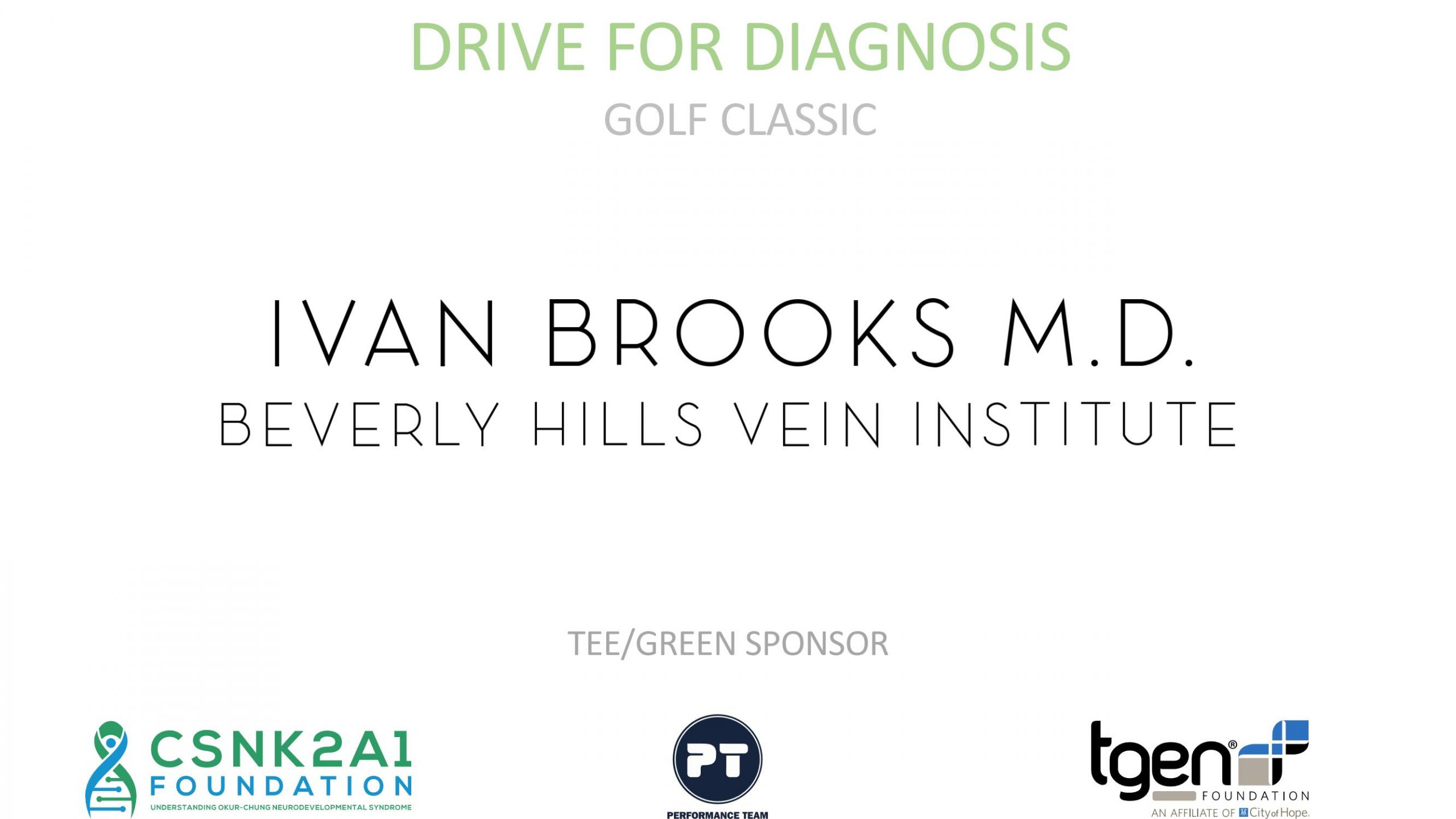 Tee/Green Sponsor - Ivan Brooks M.D. Beverly Hills Vein Institute