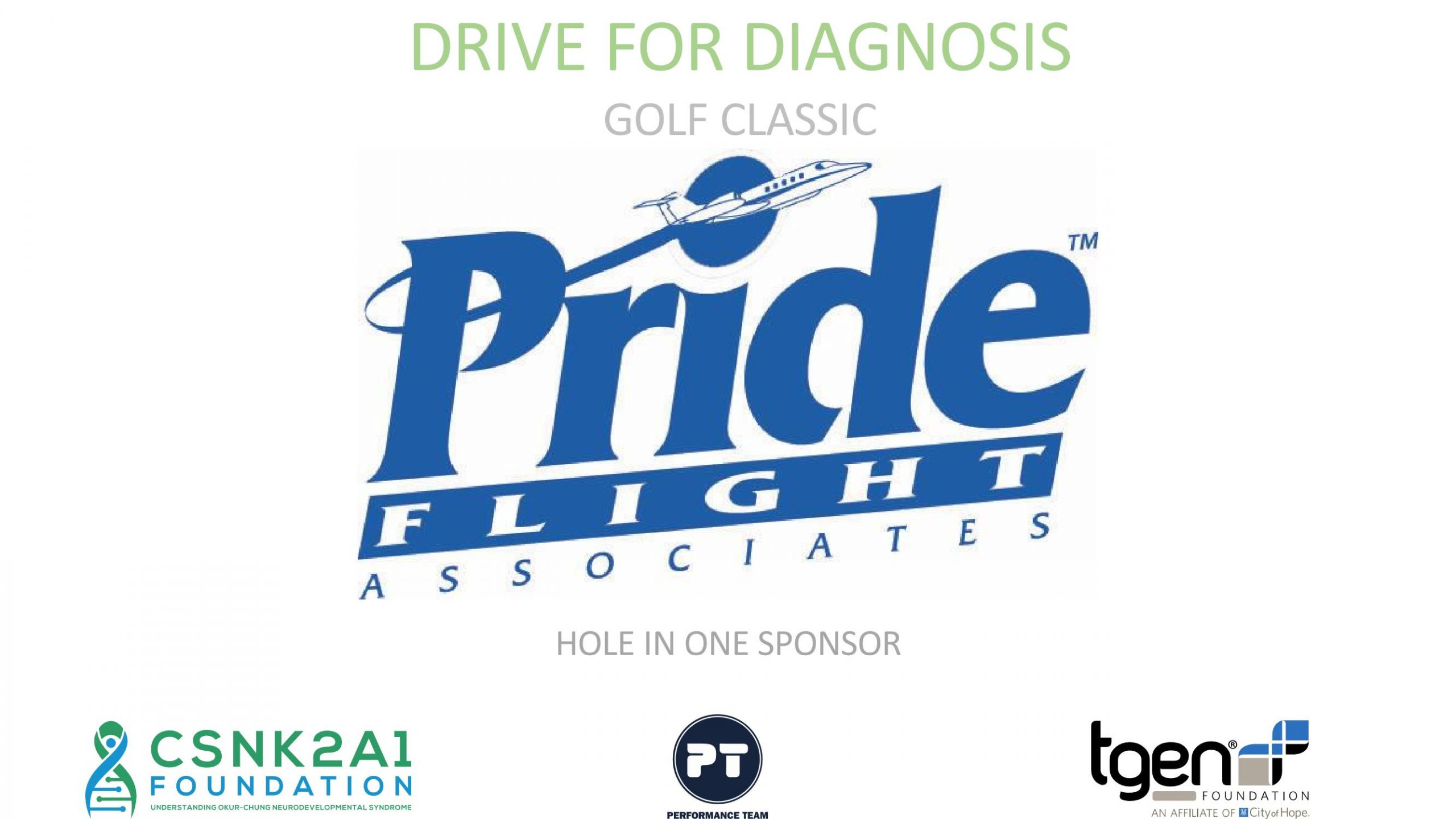 Hole in One Sponsor - Pride Flight