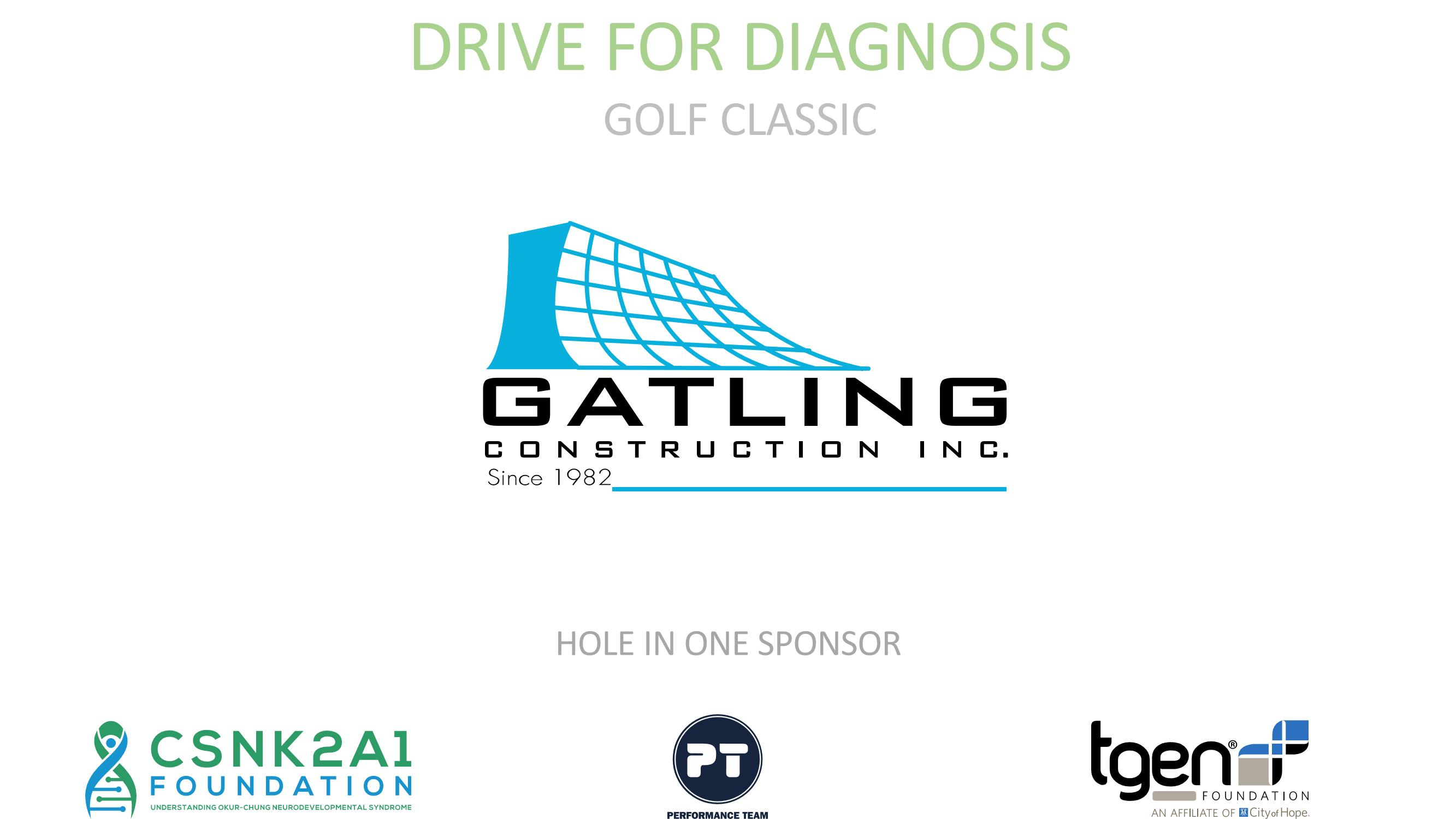Hole in One Sponsor - Gatling Construction Inc.