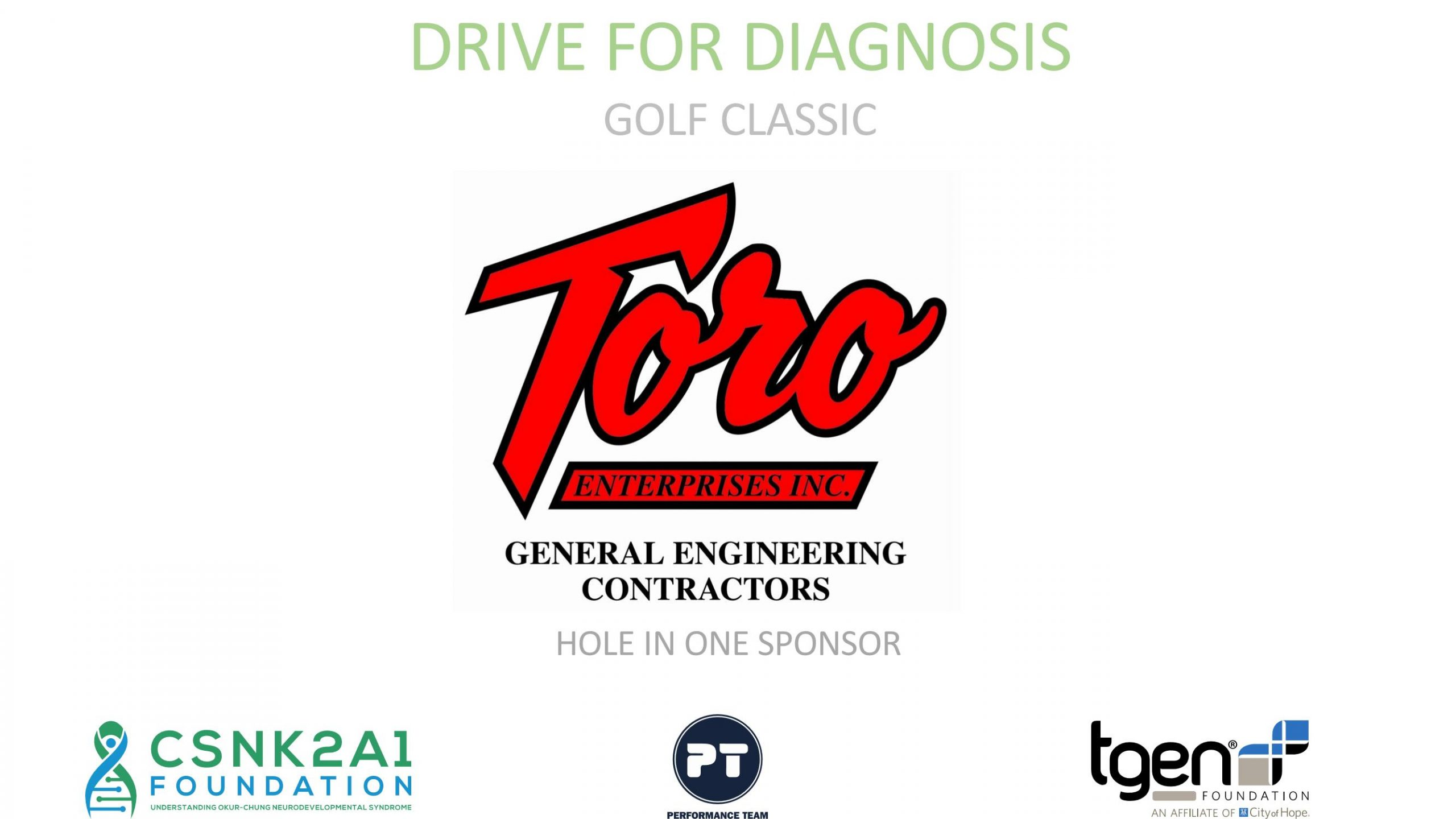 Hole in One Sponsor - Toro General Engineering Contractors
