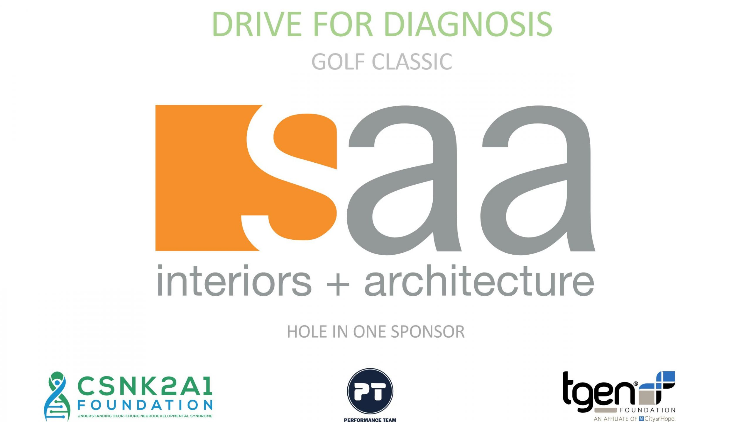 Hole in One Sponsors - SAA Interiors + Architecture