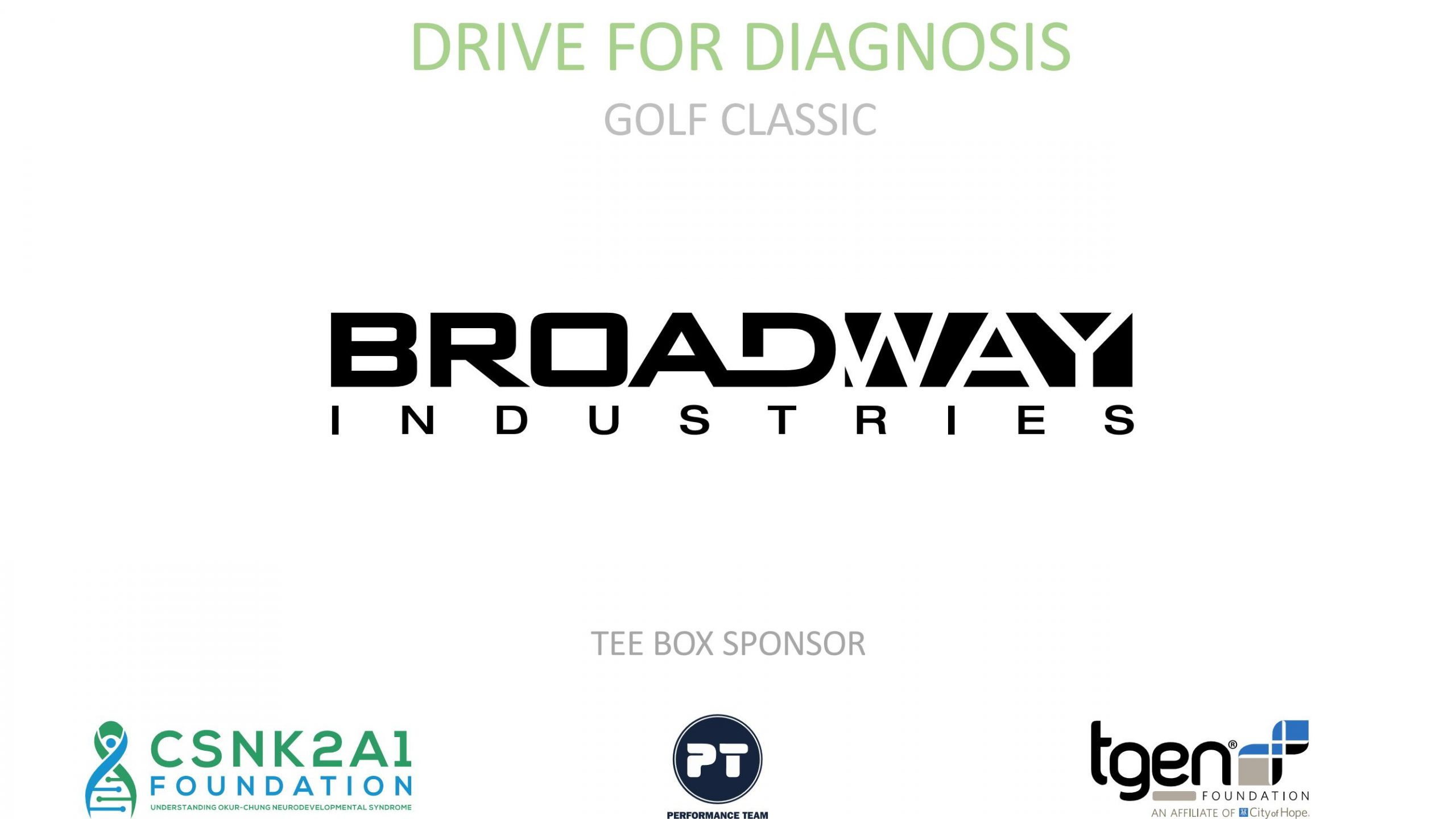 Tee Box Sponsor - Broadway Industries
