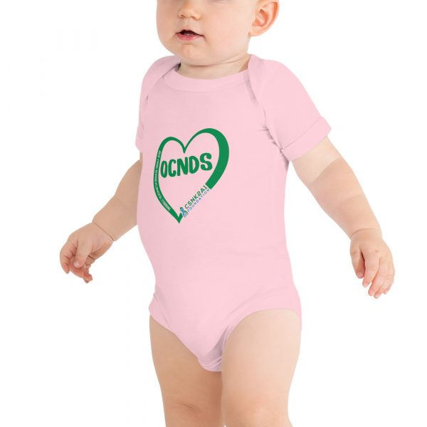 All Heart Baby Onesie in Pink