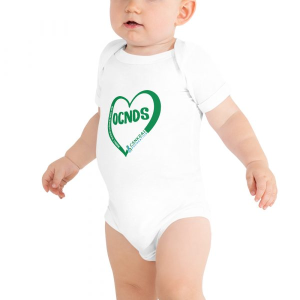 All Heart Baby Onesie in White