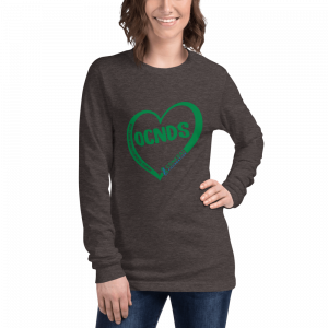 All Heart Unisex Long Sleeve tshirt in Dark Grey Heather