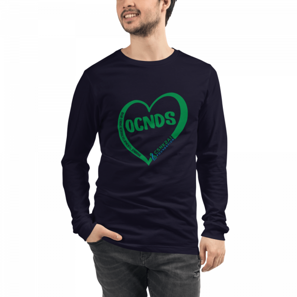 All Heart Unisex Long Sleeve tshirt in Navy