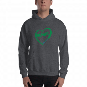 All Heart design Unisex Hoodie in Dark Heather