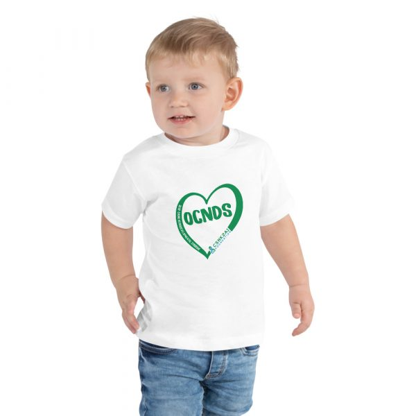 All Heart Toddler tshirt in white