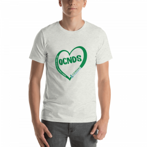All Heart Unisex tshirt in Ash