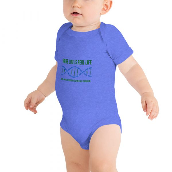 The Ava Onesie in Heather Blue