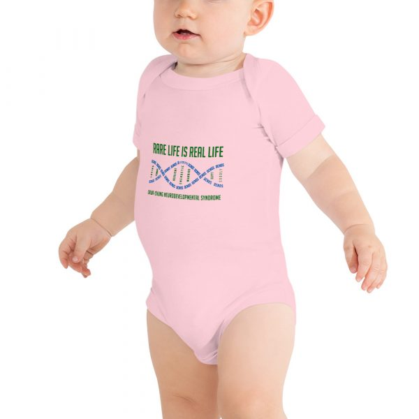 The Ava Baby Onesie in Pink