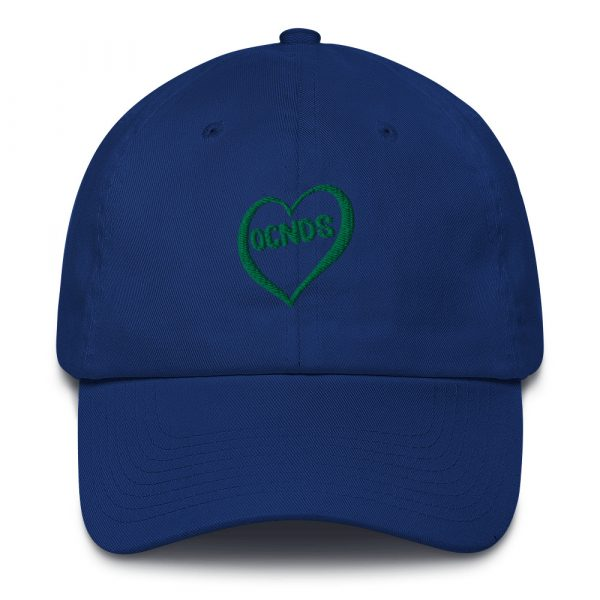 All Heart Adjustable Dad Hat in Royal Blue