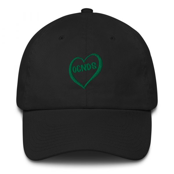 All Heart Adjustable Dad Hat in black