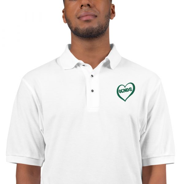 All Heart Polo Shirt in White close up