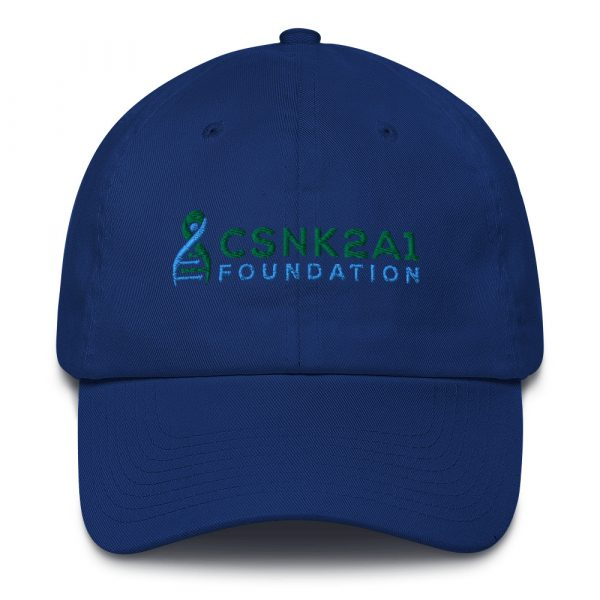 CSNK2A1 Foundation Adjustable Dad Hat in Royal Blue