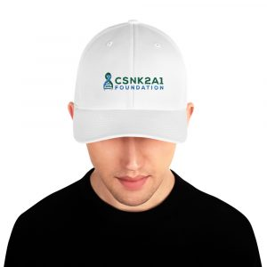 Logo Design Dad Hat in White