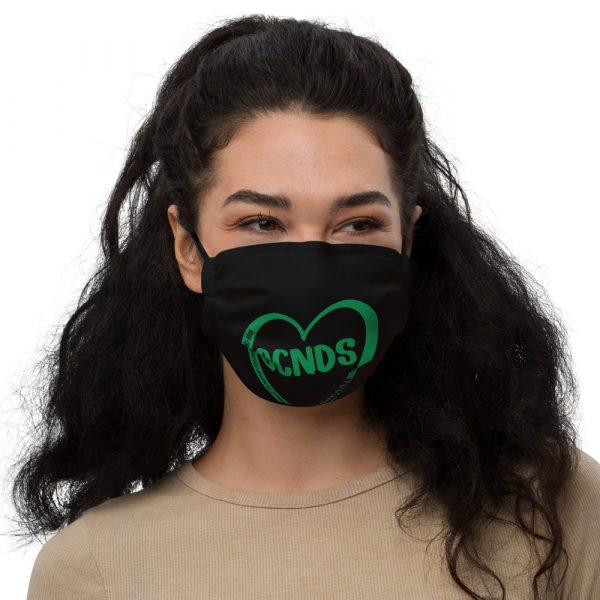 All Heart Face Mask in Black