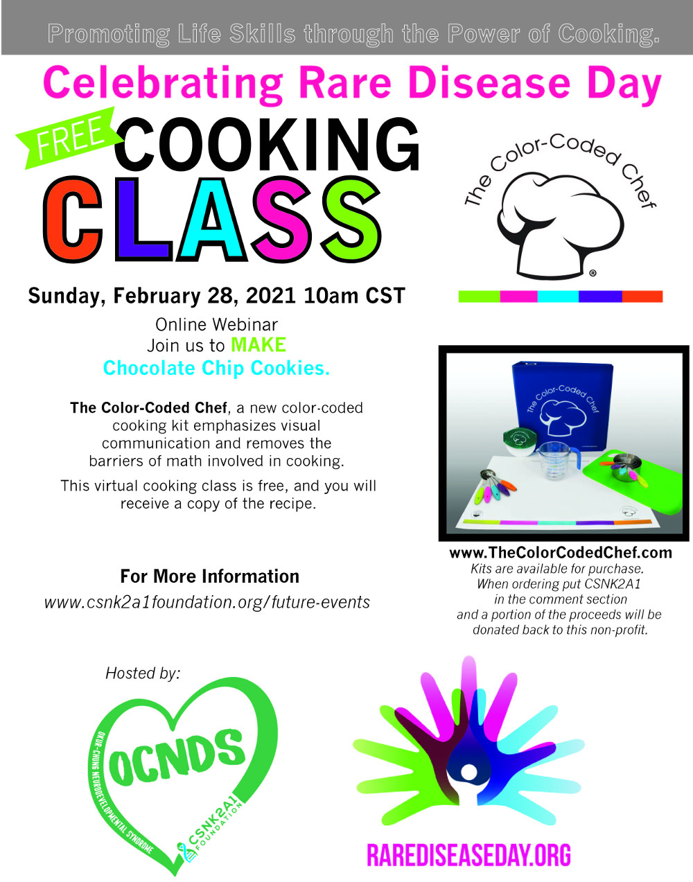 Rare Disease Day Event - The Color Coded Chef