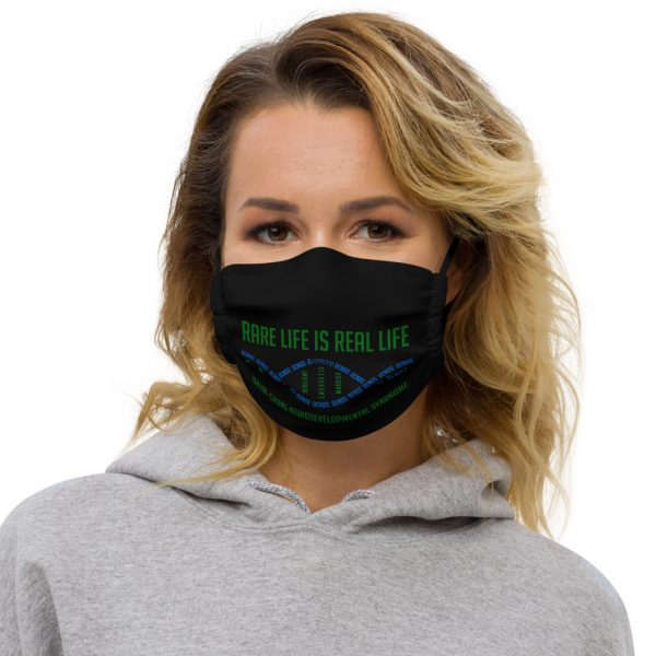 The Ava Face Mask in black
