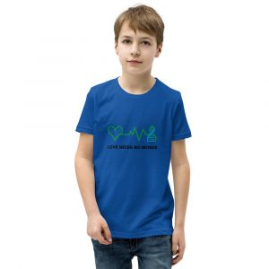 The Harper Unisex Kids T-shirt in Royal Blue