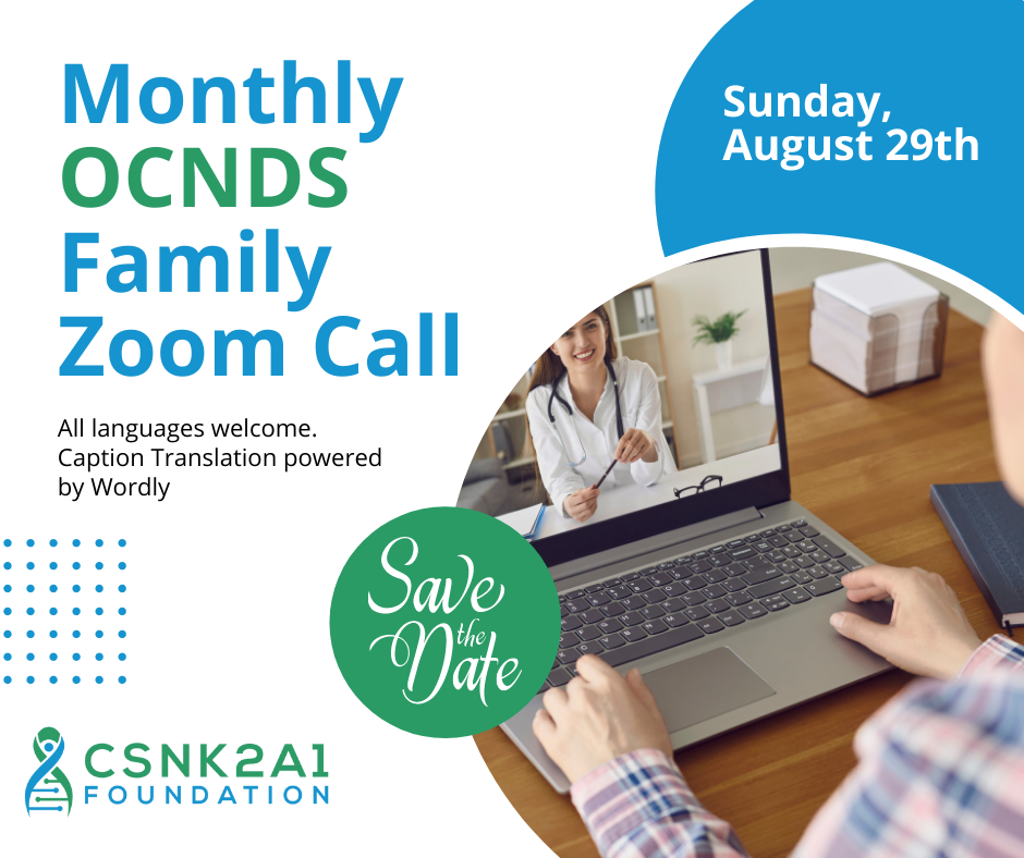 Monthly OCNDS Family zoom meeting