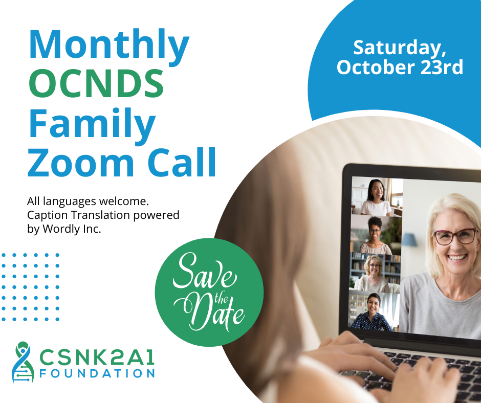 OCNDS Family Zoom Call October 2021